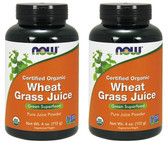 2-Pack Of Organic Wheat Grass Pure Juice Powder 4 oz (113 g), Now Foods