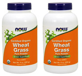 2-Pack Of Wheat Grass Certified Organic 9 oz (255 g), Now Foods