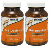 2-Pack Of Gr8-Dophilus 120 Vcaps, Now Foods, Shelf Stable Probiotics