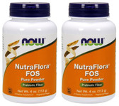 2-Pack Of Nutra Flora FOS 100% Pure Powder 4 oz (113 g), Now Foods