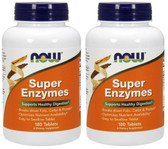 2-Pack Of Super Enzymes 180 Tabs, Now Foods