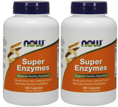 2-Pack Of Super Enzymes 180 Caps, Now Foods, Supports Healthy Digestion