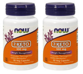 2-Pack Of 7-Keto 100 mg 30 Vcaps, Now Foods
