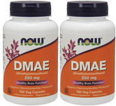 2-Pack Of DMAE 250 mg 100 Vcaps, Now Foods, Brain Health