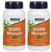 2-Pack Of Dopa Mucuna 90 Vcaps, Now Foods, Mood Stress