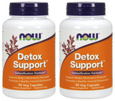 2-Pack Of Detox Support 90 Vcaps, Now Foods, Detoxification