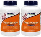 2-Pack Of Cider Vinegar Diet 180 Caps, Now Foods
