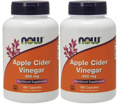 2-Pack Of Apple Cider Vinegar High Potency 450 mg 180 Caps, Now Foods