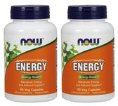 2-Pack Of Energy 90 Caps, Now Foods, Weight Loss