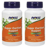 2-Pack Of Super Cortisol Support 90 Veggie Caps, Now Foods