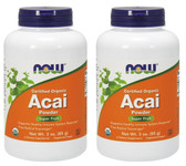 2-Pack Of Organic Acai Powder 3 oz, Now Foods, Heart Immune Inflammatory