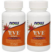 2-Pack Of Eve Multi 90 Sgels, Now Foods