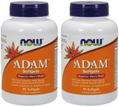 2-Pack Of Adam Male Multi 90 Sgels, Now Foods, Men's Multi-Vitamin
