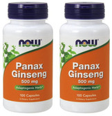 2-Pack Of Panax Ginseng 500 mg 100 Caps, Now Foods