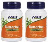 2-Pack Of Butterbur 60 Veggie Caps, Now Foods