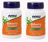 2-Pack Of Bilberry Comp 80 mg 50 Caps, Now Foods