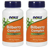 2-Pack Of Bilberry Complex 100 Caps, Now Foods, Eyes Health