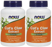 2-Pack Of Cat's Claw Extract 120 Vcaps, Now Foods