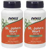 2-Pack Of St. John's Wort 300 mg 100 Caps, Now Foods, Anxiety