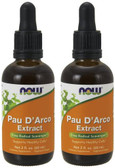2-Pack Of Pau D'Arco Extract 2 oz (60 ml), Now Foods