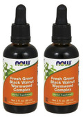 2-Pack Of Fresh Green Black Walnut Wormwood Complex 2 oz, Now Foods, Acne Eczema