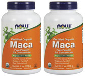 2-Pack Of 100% Organic Maca Pure Powder 7 oz, Now Foods, Reproductive Health
