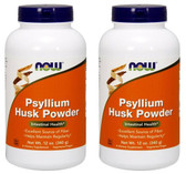 2-Pack Of Psyllium Husk Powder 12 oz (340 g), Now Foods, Intestinal Health
