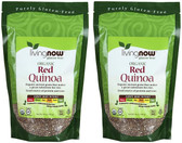 2-Pack Of Organic Red Quinoa 14 oz, Now Foods