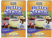 2-Pack Of BetterStevia Zero Calorie Sweetener Original 100 Packets, Now Foods