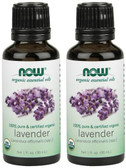 2-Pack Of Organic Lavender Oil 1 oz, Now Foods