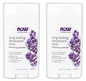 2-Pack Of Long-Lasting Deodorant Stick Refreshing Lavender 2.2 oz, Now Foods