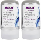 2-Pack Of Nature's Deodorant Stick 3.5 oz, Now Foods, Long Lasting Protection