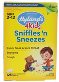Sniffles'n Sneezes 125 Tabs, Hylands 4 Kids, Ages 2-12,Sneezing,Cough