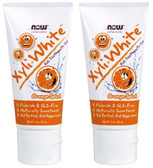 2-Pack Of Xyli White Kid's Toothpaste Gel Orange Splash 3 oz (85 g), Now Foods