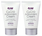 2-Pack Of CoQ10 Antioxidant Cream 2 fl oz, Now Foods, Age Defying Moisturizer