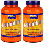 2-Pack Of Sports L-Ornithine Powder 8 oz (227 g), Now Foods