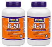 2-Pack Of Vitamin B-50 Caps 250 Caps, Now Foods