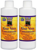 2-Pack Of Aloe Vera Concentrate 4 oz, Now Foods, Digestive Aid Cleansing