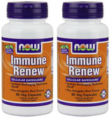 2-Pack Of Immune Renew 90 Vcaps, Now Foods, Boost Immune System