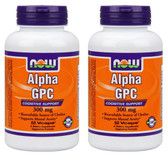 2-Pack Of Alpha GPC 300 mg 60 Vcaps, Now Foods, Cognitive Support
