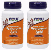 2-Pack Of Hyaluronic Acid 100 mg Double Strength Plus 60 Vcaps, Now Foods Joints