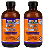 2-Pack Of Liquid CoQ10 Orange Flavor 4 oz, Now Foods