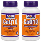 2-Pack Of CoQ10 30 mg 120 Vcaps, Now Foods