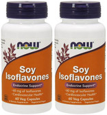2-Pack Of Soy Isoflavones 150 mg 60 Vcaps, Now Foods