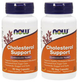 2-Pack Of Cholesterol Support 90 Veggie Caps, Now Foods, Cardiovascular