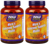 2-Pack Of Men'S Extreme Sports Multivitamin 180 Sgels, Now Foods