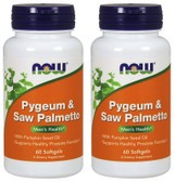 2-Pack Of Pygeum & Saw Palmetto Extract 25/80 mg 60 Sgels, Now Foods
