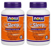 2-Pack Of Sleep Botanical Sleep Blend 90 Veggie Caps, Now Foods, Restful Sleep