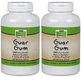 2-Pack Of Real Food Guar Gum 8 oz (227 g), Now Foods, Thickening Powder