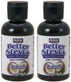 2-Pack Of Coconut Liquid Stevia 2 oz, Now Foods